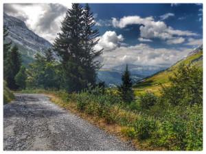 Decending towards Col d'Aravis