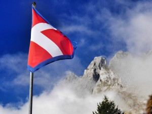 The Savoie flag flying high