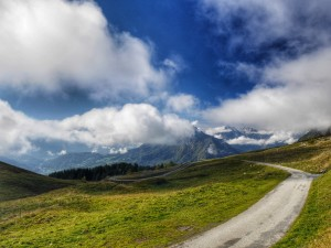 Near the top of Col de l'Arpettaz